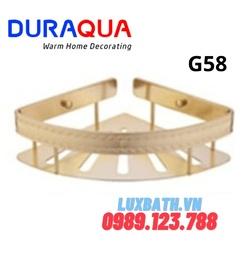 Kệ góc nhôm mạ vàng Duraqua G58