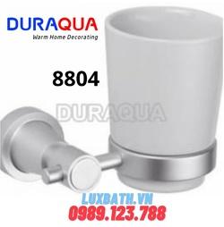 Kệ cốc đánh răng mạ bạc Duraqua 8804