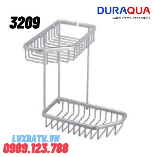 Kệ đựng đồ 2 tầng hợp kim nhôm Duraqua 3209