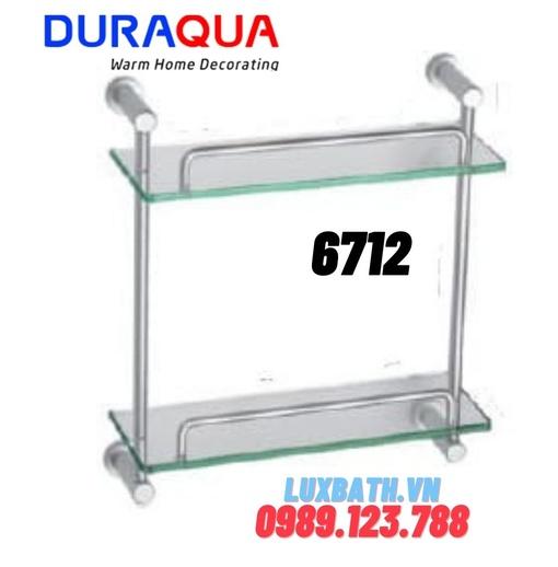 Kệ đựng đồ 2 tầng nhôm kính Duraqua 6712