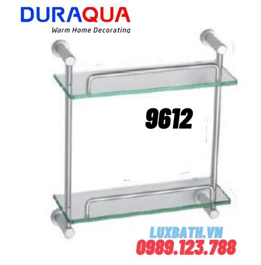 Kệ đựng đồ 2 tầng nhôm kính Duraqua 9612
