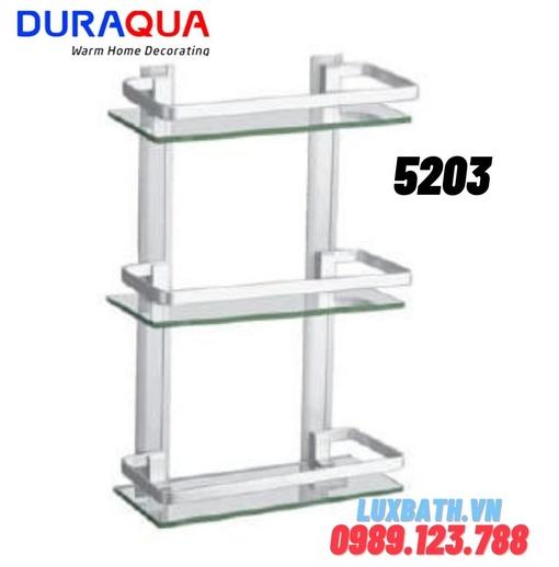Kệ đựng đồ 3 tầng nhôm kính Duraqua 5203