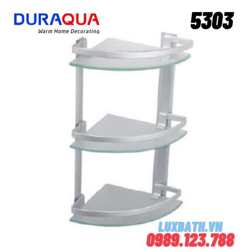 Kệ đựng đồ 3 tầng nhôm kính Duraqua 5303