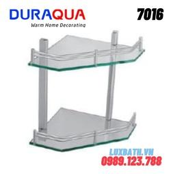 Kệ đựng đồ 2 tầng nhôm kính Duraqua 7016