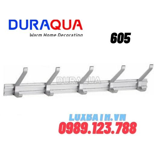 Móc treo đồ đôi 5 vấu nhôm Duraqua 605