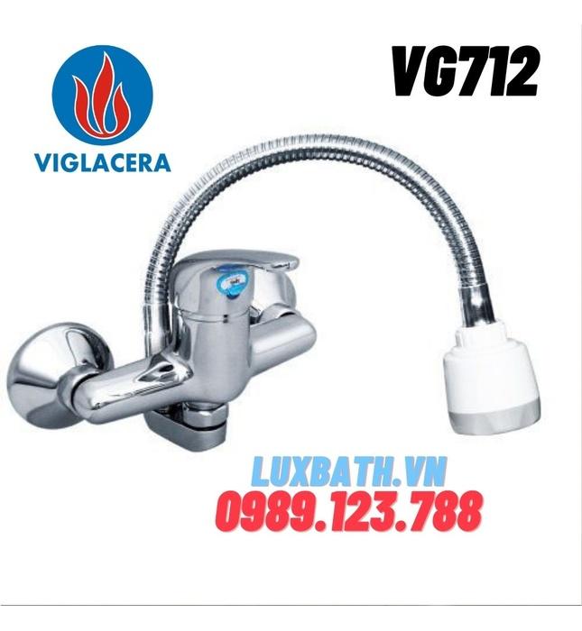 Vòi chậu rửa bát nóng lạnh cần mềm Viglacera VG712 (VG713M)