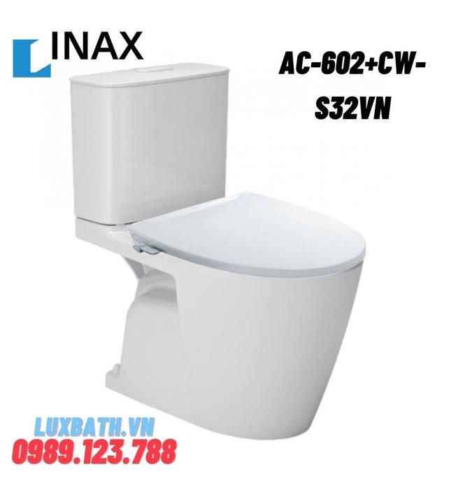 Bồn cầu 2 khối nắp rửa cơ Inax AC-602+CW-S32VN