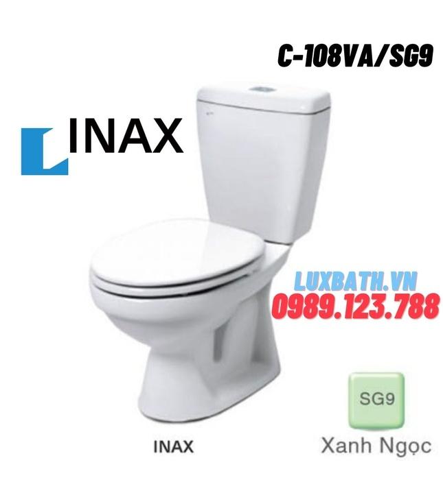 Bồn cầu 2 khối nắp thường xanh ngọc Inax C-108VA/SG9