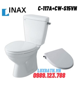 Bồn cầu nắp rửa cơ Inax C-117A+CW-S15VN