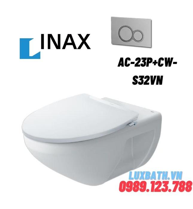 Bồn cầu âm tường nắp rửa cơ Inax AC-23P+CW-S32VN