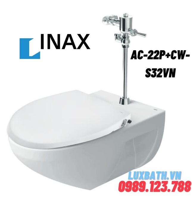 Bàn cầu treo tường nắp rửa cơ Inax AC-22P+CW-S32VN