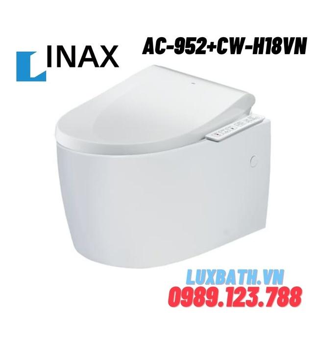 Bàn cầu âm tường nắp rửa điện tử INAX AC-952+CW-H18VN