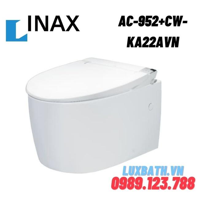 Bàn cầu âm tường nắp điện tử INAX AC-952+CW-KA22AVN