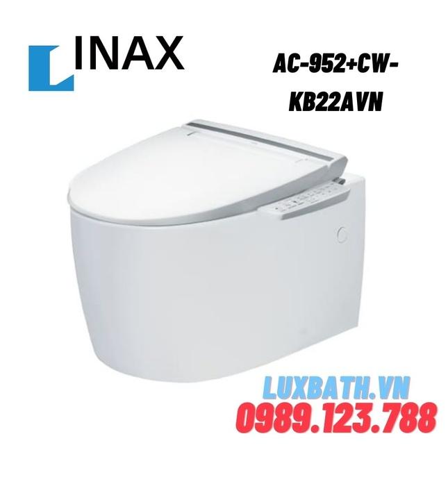 Bàn cầu âm tường nắp rửa điện tử INAX AC-952+CW-KB22AVN