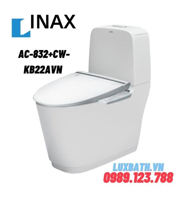 Bồn cầu 2 khối nắp điện tử INAX AC-832+CW-KB22AVN