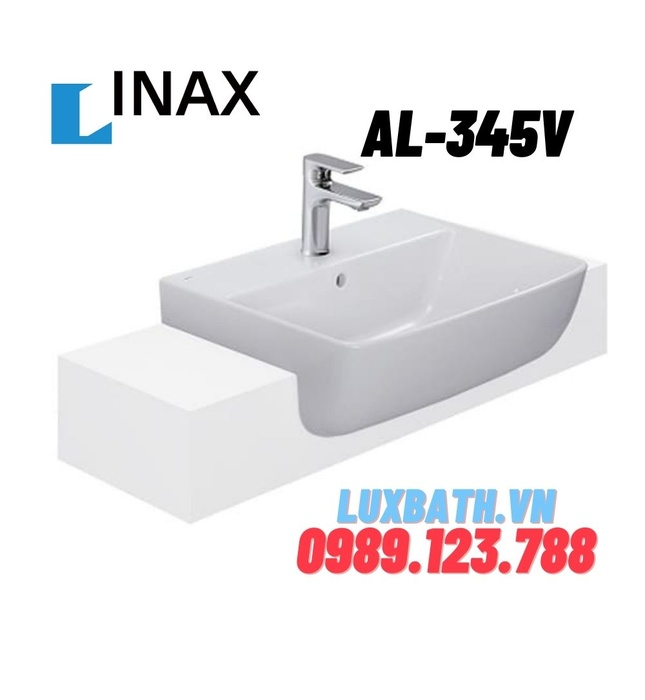 Chậu Rửa Mặt Lavabo Bán Âm Inax AL-345V