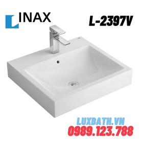 Chậu rửa mặt bàn đá dương 1 lỗ Inax L-2397VFC