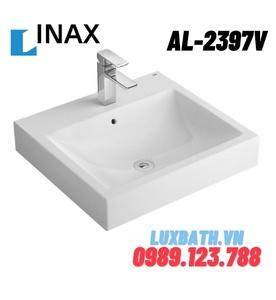 Chậu rửa mặt dương vành 1 lỗ INAX AL-2397VFC