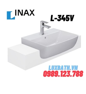 Chậu Rửa Mặt Lavabo Bán Âm Inax L-345V