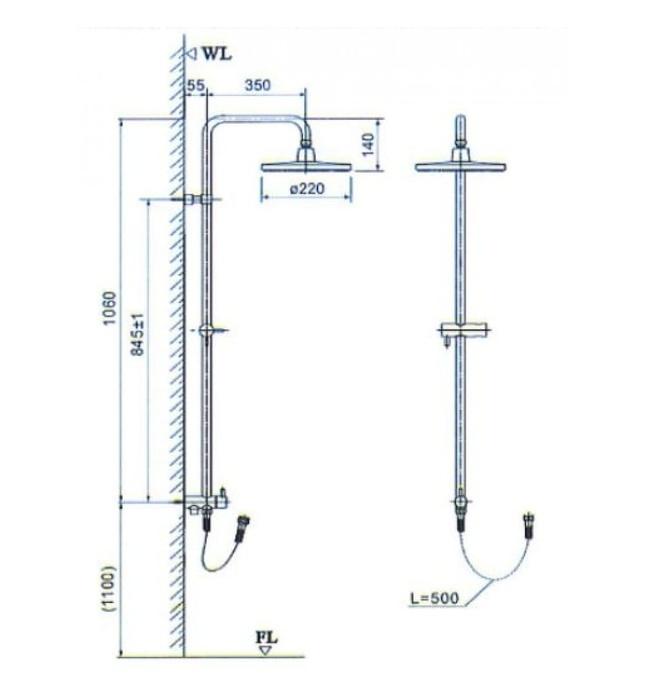 Thân Sen cây nóng lạnh Inax BFV-CL2