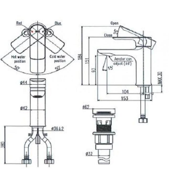 Vòi Chậu Rửa Mặt Inax LFV-612S