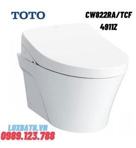 Bồn cầu treo tường nắp rửa điện tử TOTO CW822RA/TCF4911Z