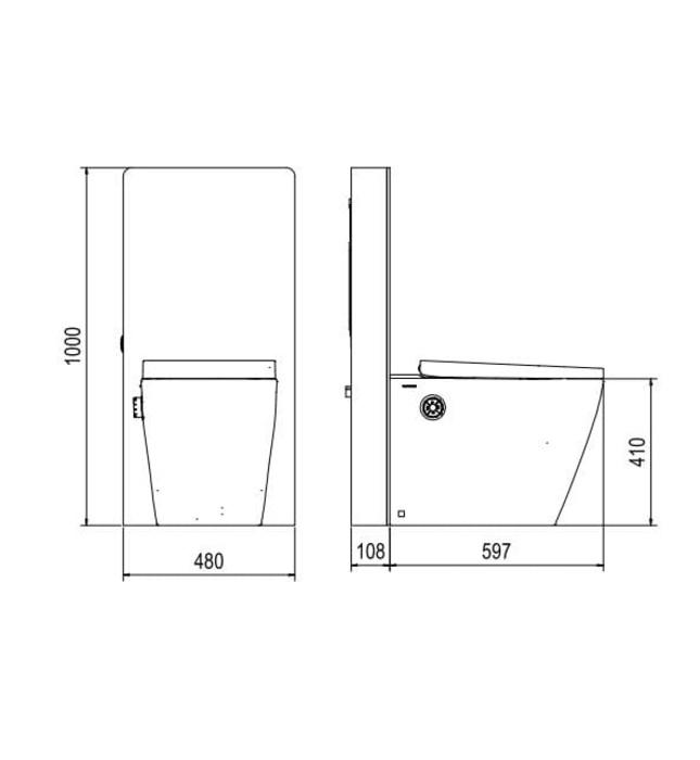 Bồn cầu thông minh Platinum P.16.321(kính trắng)