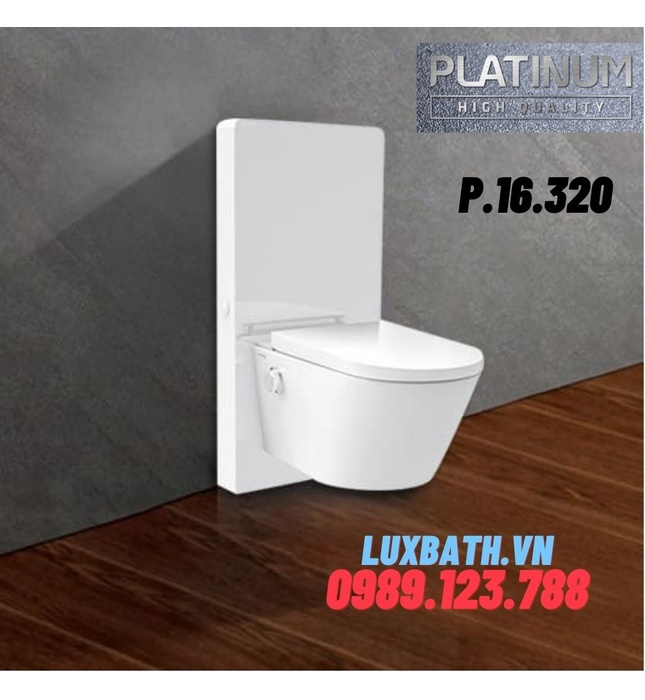 Bồn cầu thông minh Platinum P.16.320( kính trắng)