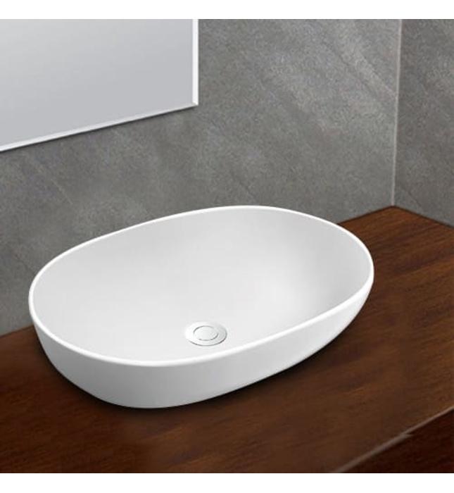 Chậu rửa mặt đặt bàn dương bàn đá Platinum P.23.350