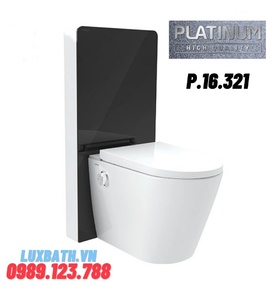 Bồn cầu thông minh Platinum P.16.321(kính đen)