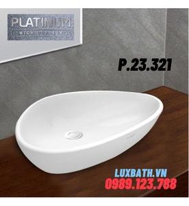 Chậu rửa mặt đặt bàn dương bàn đá Platinum P.23.321