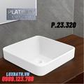 Chậu rửa mặt đặt bàn bán âm Platinum P.23.320