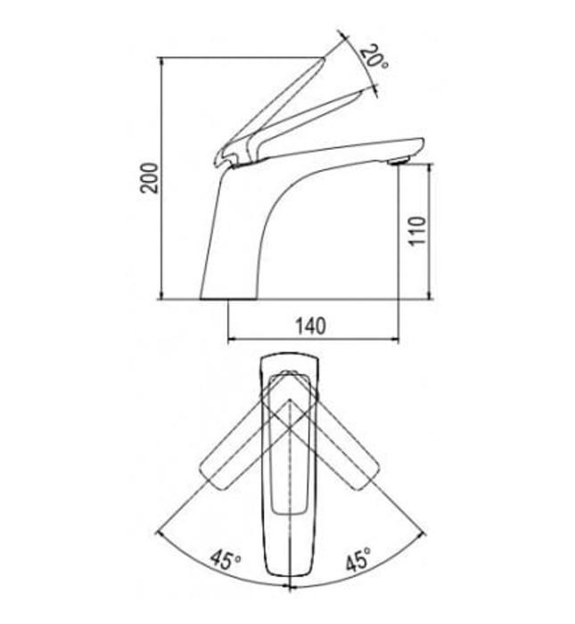Vòi Lavabo Nóng Lạnh Platinum P.51.328
