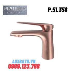 Vòi Lavabo Nóng Lạnh 1 lỗ màu vàng đồng Platinum P.51.358