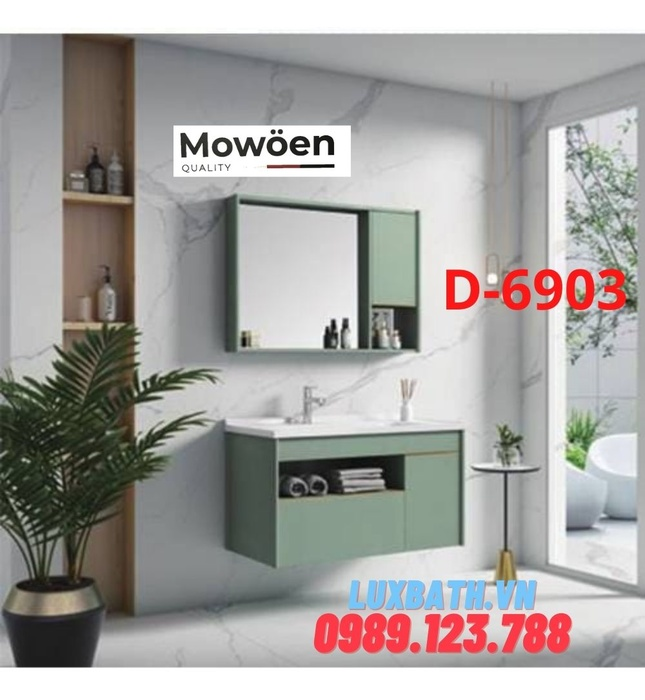 Bộ tủ chậu Lavabo cao cấp Mowoen D-6903