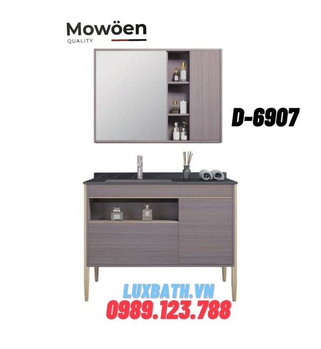 Bộ tủ chậu Lavabo cao cấp Mowoen D-6907