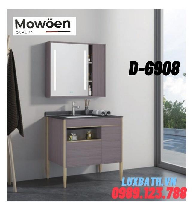 Bộ tủ chậu Lavabo 3 ngăn cao cấp Mowoen D-6908