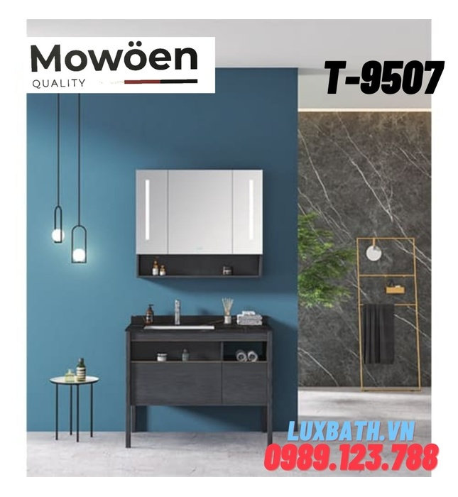 Bộ tủ chậu Lavabo cao cấp Mowoen T-9507