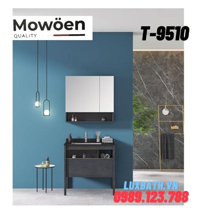 Bộ tủ chậu Lavabo 2 ngăn cao cấp Mowoen T-9510