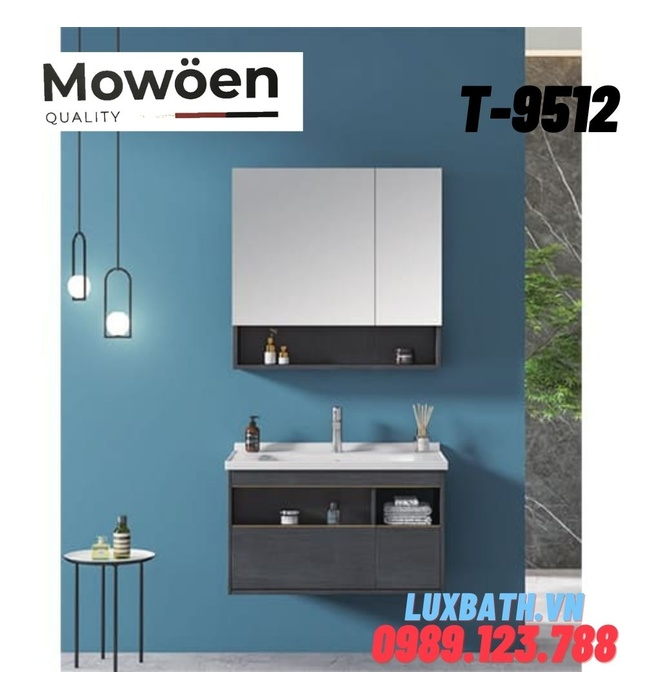Bộ tủ chậu Lavabo cao cấp Mowoen T-9512