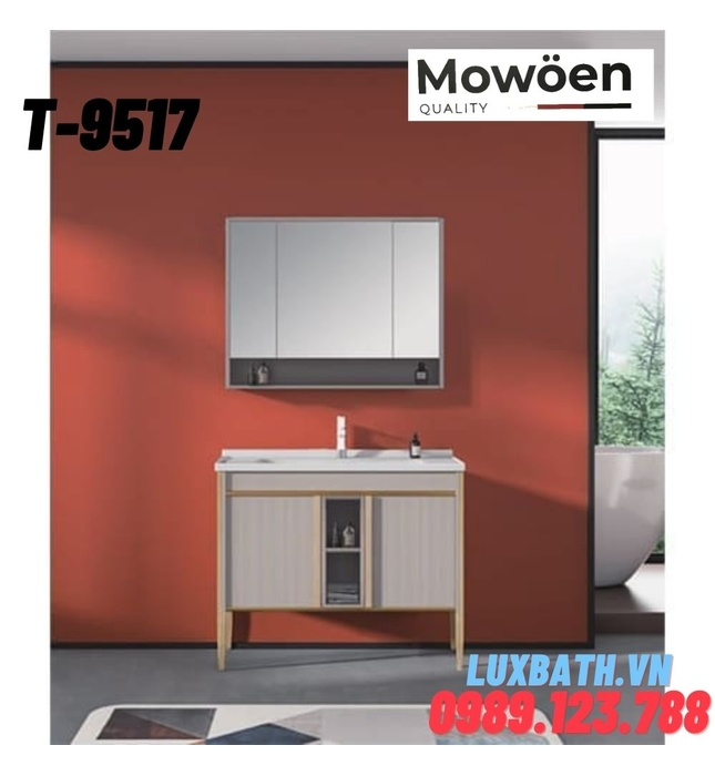 Bộ tủ chậu Lavabo cao cấp Mowoen T-9517