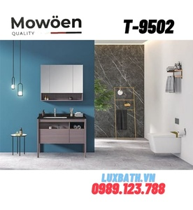 Bộ tủ chậu Lavabo cao cấp Mowoen T-9502