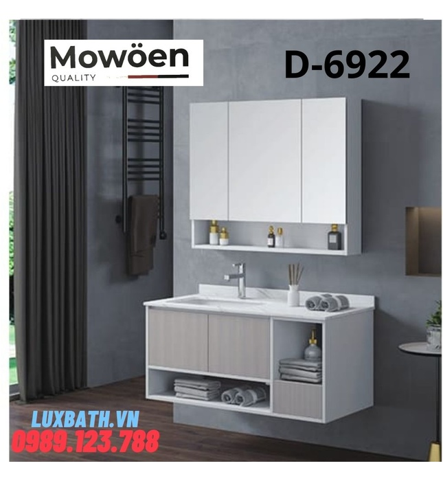 Bộ tủ chậu Lavabo cao cấp Mowoen D-6922