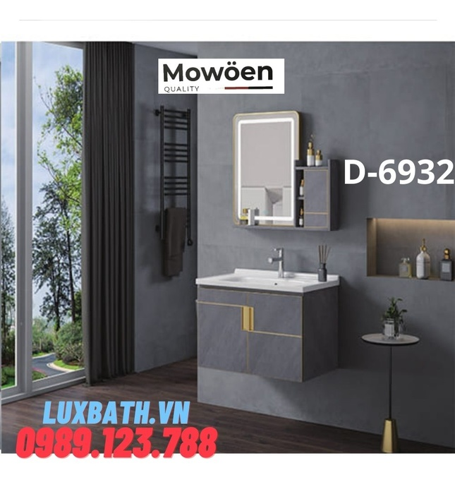 Bộ tủ chậu Lavabo cao cấp Mowoen D-6932
