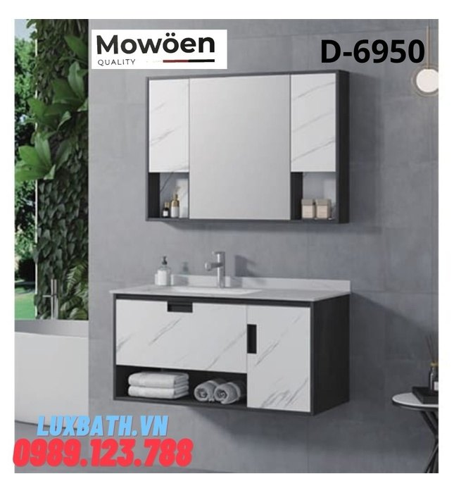 Bộ tủ chậu Lavabo cao cấp Mowoen D-6950