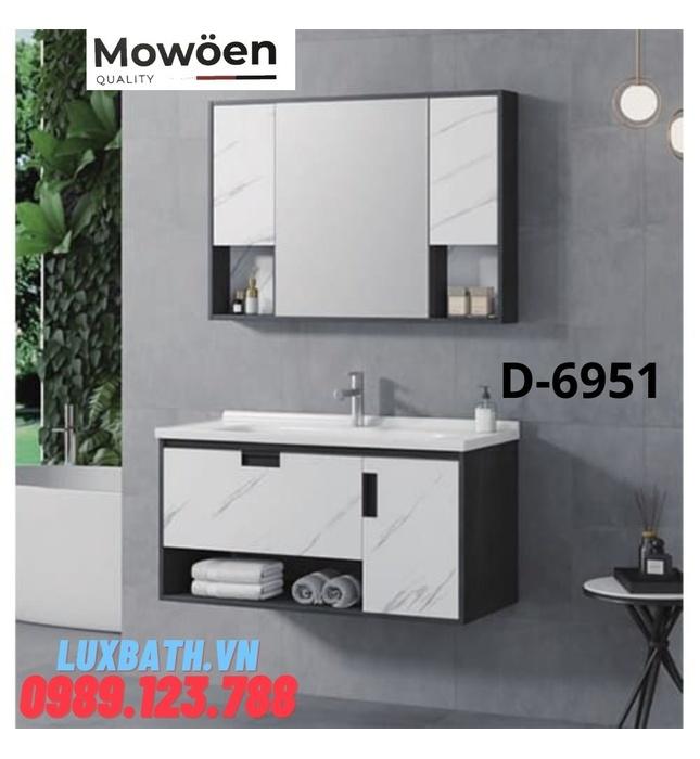Bộ tủ chậu Lavabo cao cấp Mowoen D-6951
