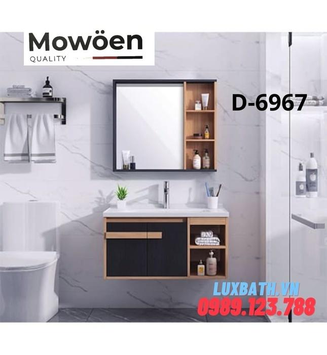 Bộ tủ chậu kệ gương lavabo 4 ngăn Mowoen D-6967