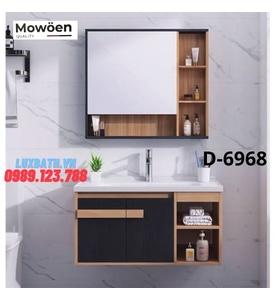 Bộ tủ chậu Lavabo cao cấp Mowoen D-6968