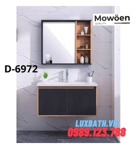 Bộ tủ chậu Lavabo cao cấp Mowoen D-6972