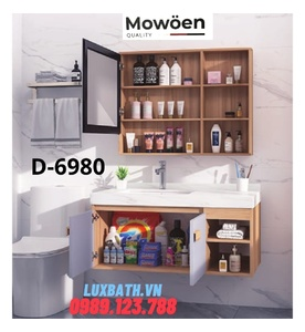 Bộ tủ chậu Lavabo cao cấp Mowoen D-6980